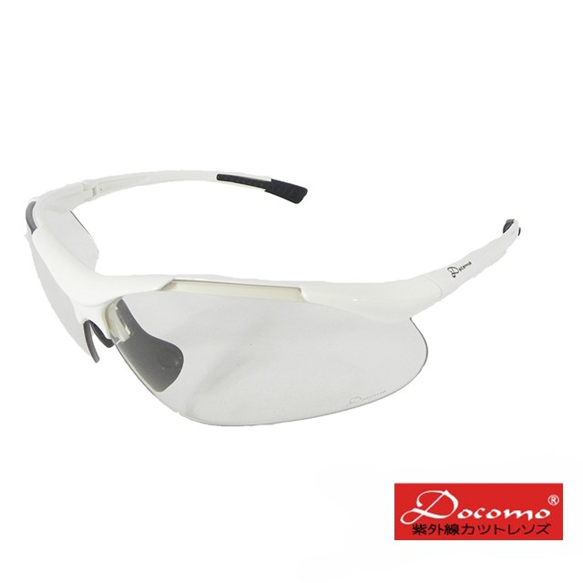 【Docomo運動型太陽眼鏡】 高規格運動防爆鏡片 光學非球面 彈性記憶款 加贈眼鏡副片 最新科技款