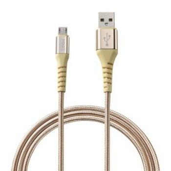 MINIQ Micro USB充電傳輸線1.2M-IC1200M(金) [大買家]