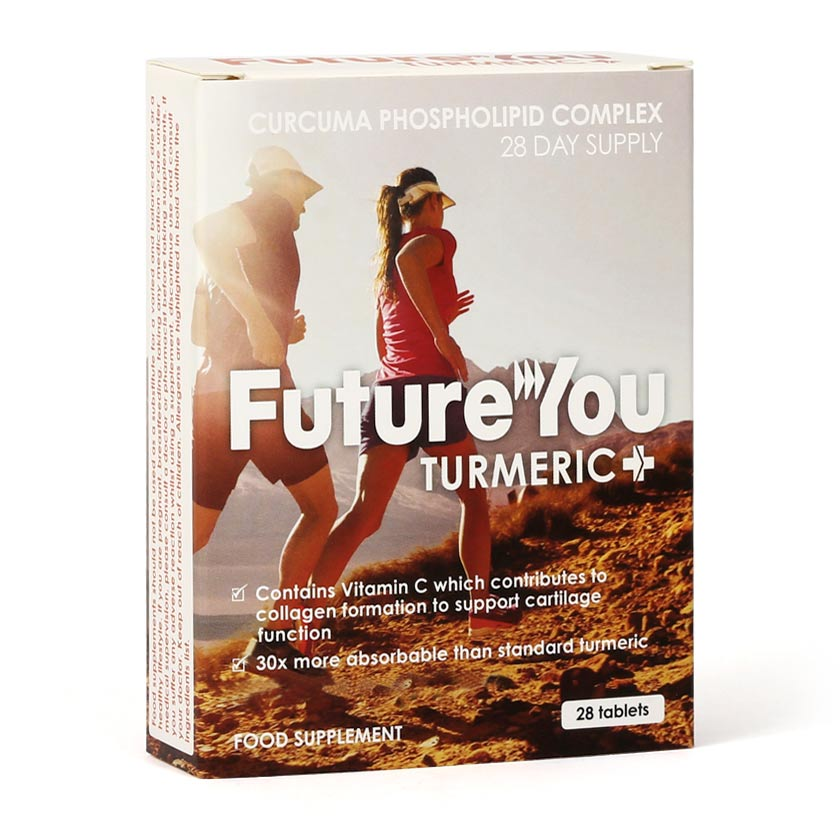 FutureYou Cambridge - Turmeric+ with patented Curcumin and Vitamin C - Joint Health Supplements - Hi