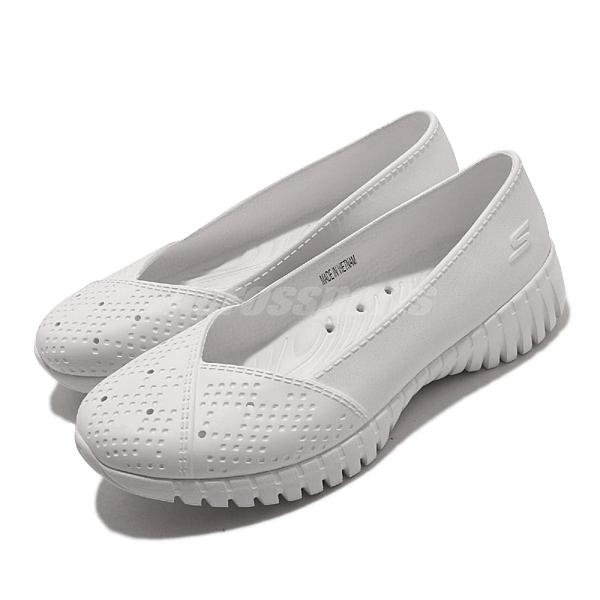 Skechers 休閒鞋 Go Walk Smart-Beach Babe 白 全白 女鞋 水鞋 排水設計 套入式 懶人鞋【ACS】 111117WHT