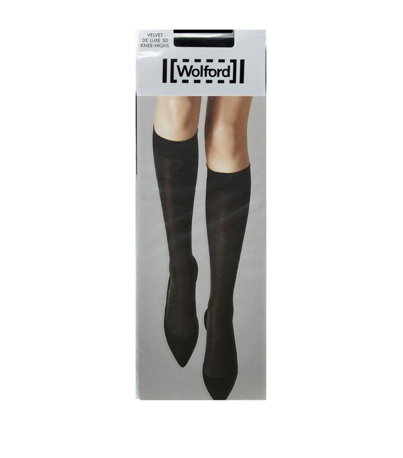 Wolford Knee-High Velvet Deluxe 50 Socks