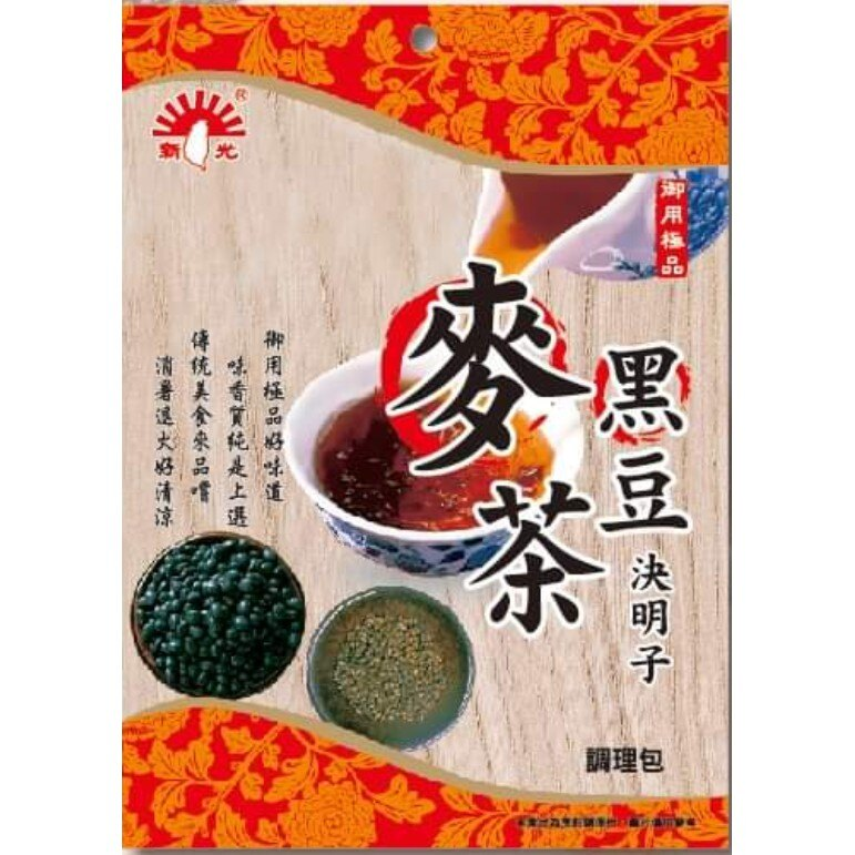 【野味食品】新光洋菜 黑豆決明子麥茶-100g(純素,調理包,桃園實體店面出貨)