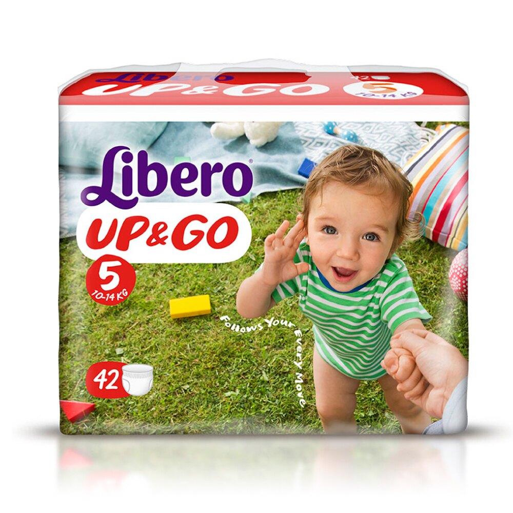 麗貝樂 Libero 嬰兒敢動褲5號(L) 42片X6包 專品藥局【2015236】