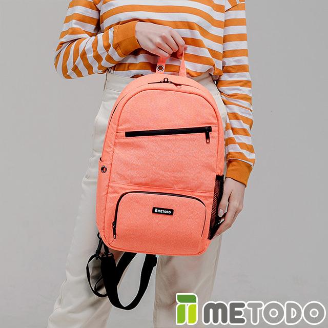 【METODO 韓國】ST 2-in-1 Bag L不怕割斜背包(TSL-805 清新橘/防盜/防割/耐刮/護個資/防潑水/後背包)