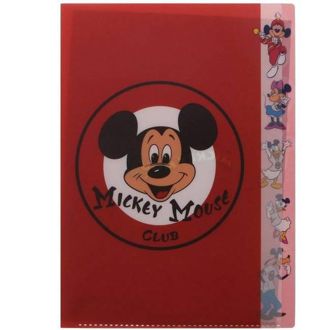 sun-star Disney D Clear File 5P 迪士尼L夾 / 紅 誠品eslite