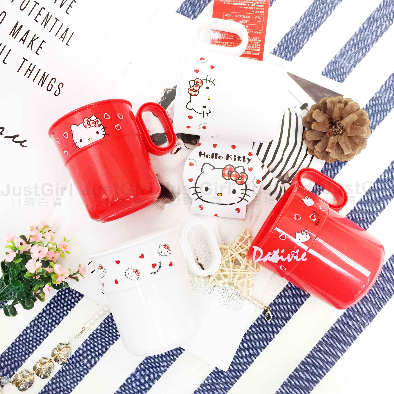 塑膠杯 日本 三麗鷗 Hello Kitty 300ml 4入 水杯 日本進口正版授權