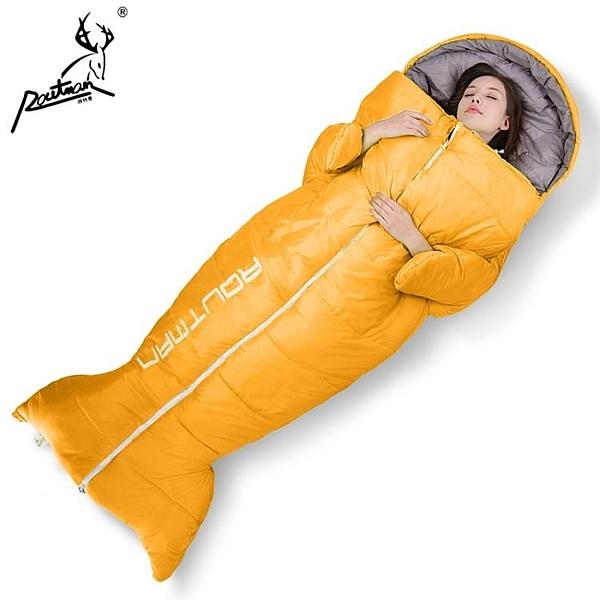 睡袋路特曼睡袋成人戶外旅行秋冬季加厚大人女男室內露營防寒單人隔臟 果果生活館