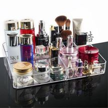 專佳化妝品整理收納盒箱大號小號桌面簡約亞克力透明化妝盒置物架CY