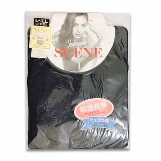日本製 女生 吸濕發熱衣 7分袖 L~LL 黑色 SCENE