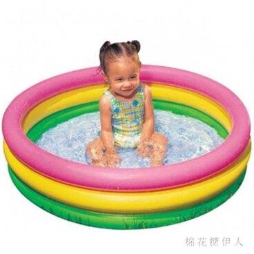 充氣泳池 水池嬰幼兒浴盆充氣底部寶寶玩具池 AW4144【棉花糖伊人】