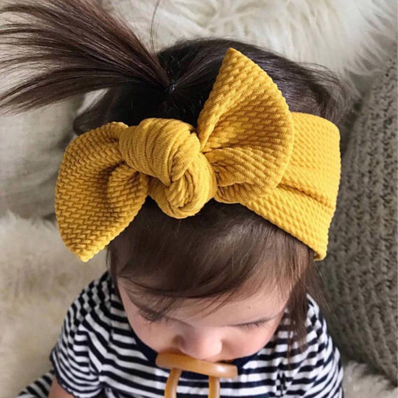 兒童蝴蝶結彈力髮帶 女童可愛甜美頭飾 小女孩百搭多色純色髮飾【IU貝嬰屋】