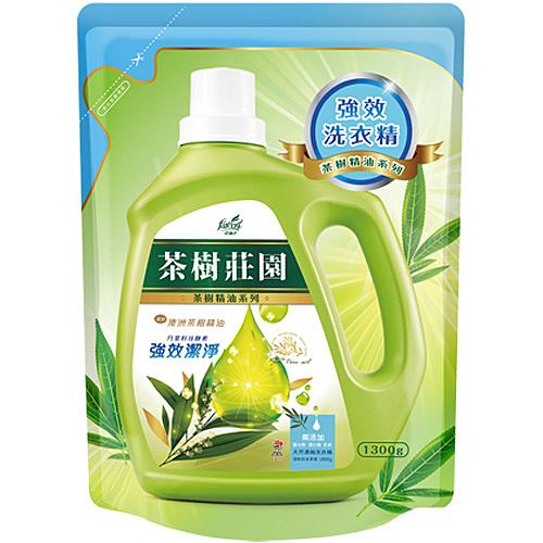 茶樹莊園 茶樹天然濃縮酵素洗衣精 強效潔淨 補充包 1300g
