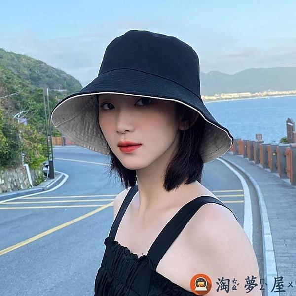 漁夫帽子女韓版防曬薄款潮太陽帽夏天遮陽【淘夢屋】