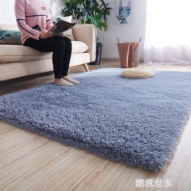 地毯臥室滿鋪可愛房間床邊毯長毛客廳茶幾飄窗榻榻米短絨地墊定制