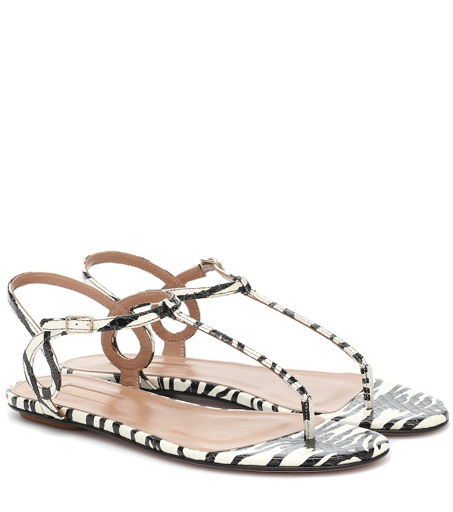 Almost Bare printed snakeskin sandals