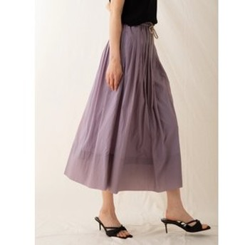 【sophila:スカート】ナイロンギャザードロストスカート