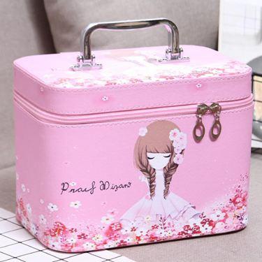 化妝包小號便攜韓國簡約可愛少女心大容量多功能方收納盒品箱手提