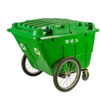 400L大垃圾桶帶蓋大號大碼環衛戶外小區物業保潔垃圾箱垃圾車手推