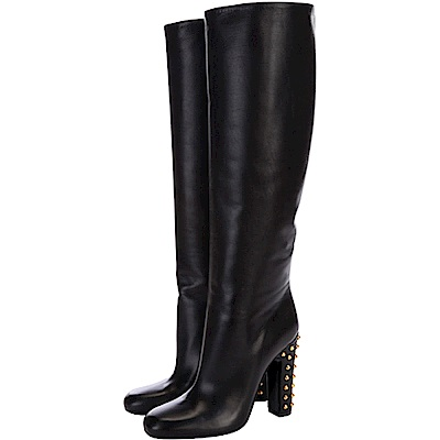 GUCCI Jacquelyne 鉚釘飾跟羊皮長靴(黑色)