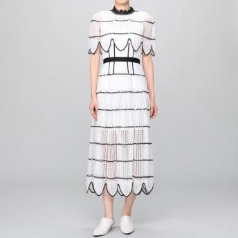 SELF-PORTRAIT(セルフ・ポートレイト)/CROCHET SCALLOP CAPE DRESS