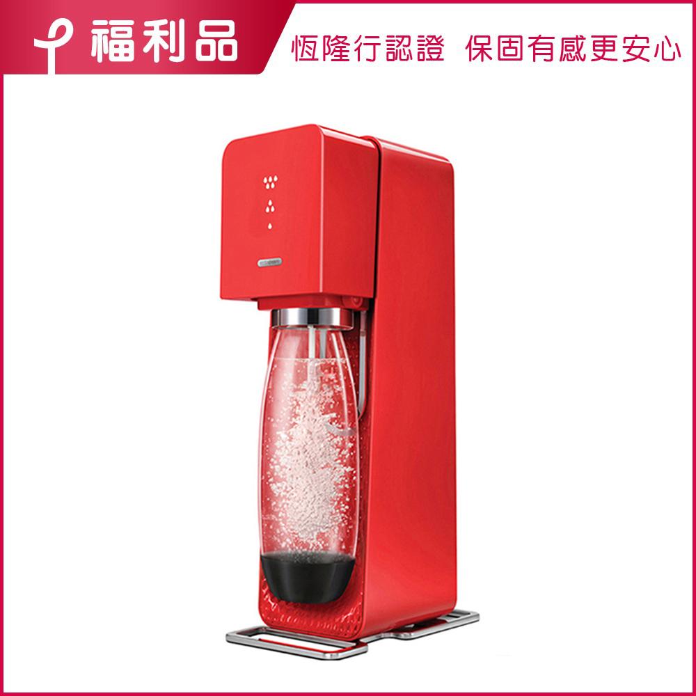 【官網限定福利品】Sodastream Source Plastic 氣泡水機(紅)