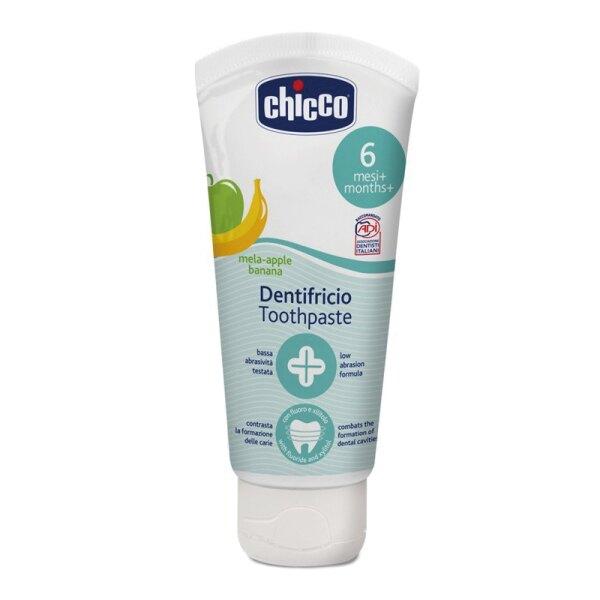 CHICCO 兒童木醣醇蘋果香蕉牙膏50ml(含氟)