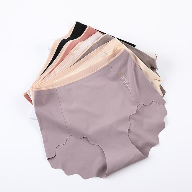 FOFU-內褲韓版日系純色高腰收腹無痕燙金高彈棉內褲【03N-G0100】