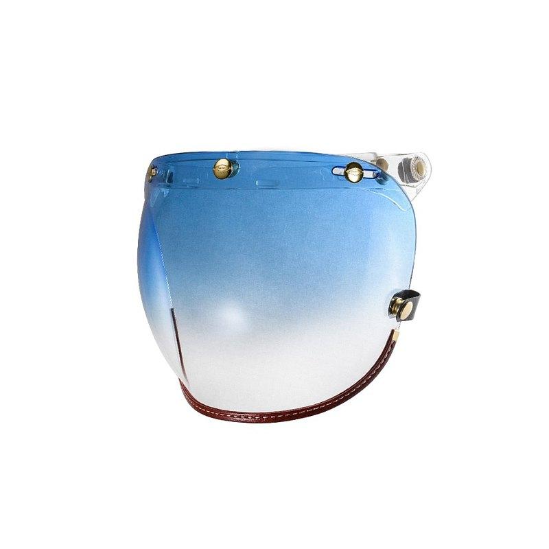 咖啡皮革TOP_PP釦式風鏡-漸層藍色