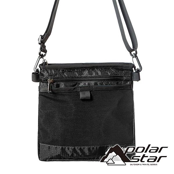 【PolarStar】隨身側背包『黑』P20808 露營.戶外.旅遊.自助旅行.多隔間.腰包.休閒包.側背包