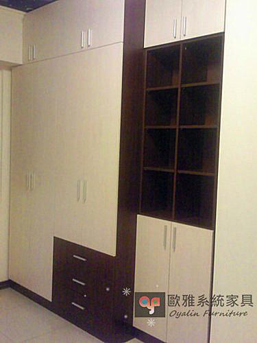 【系統家具】衣櫃+高收納櫃 總價49280元特價34496元