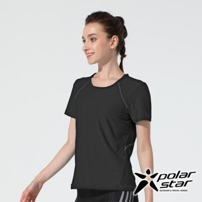 PolarStar 女 吸排休閒圓領上衣『黑』P20112