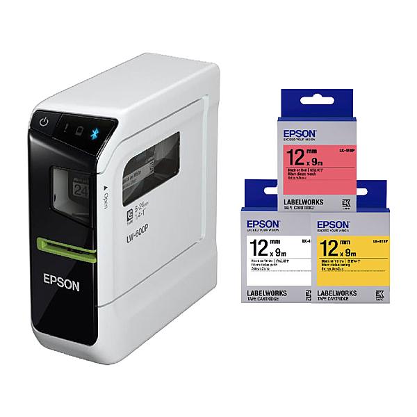 【任選市價399標籤帶3捲】EPSON LW-600P 智慧型藍牙手寫標籤機