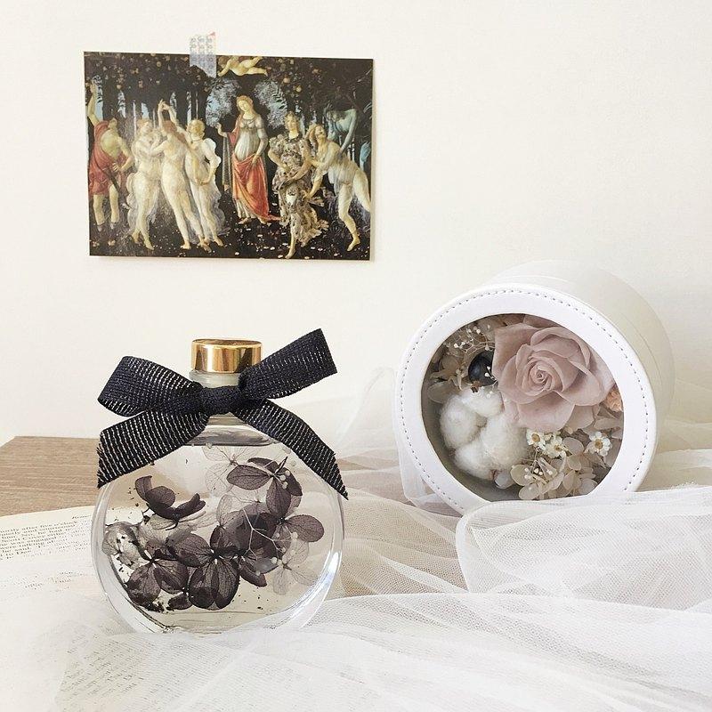 永生花蒔鐘擺飾 乾燥花 花盒 拍照道具 開幕禮 開店 生日禮物
