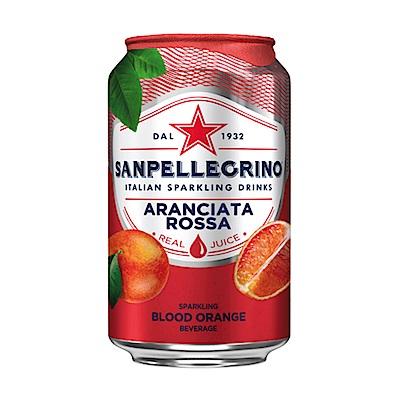聖沛黎洛 氣泡水果水 罐裝-紅橙口味(330mlx12瓶)