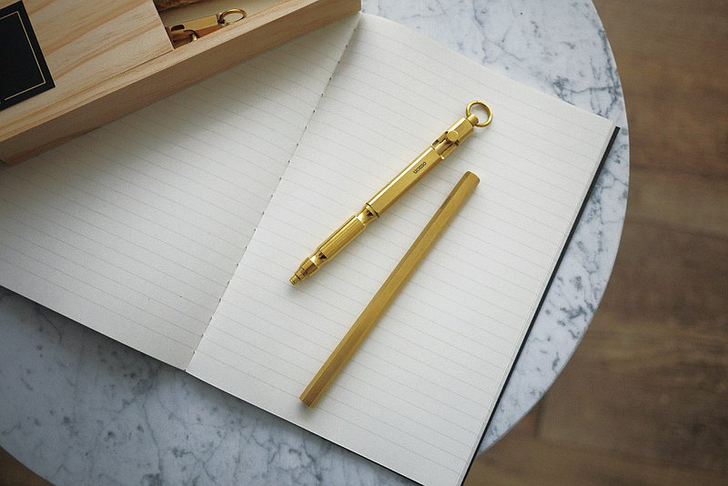 UOMO 銅筆 按壓復古