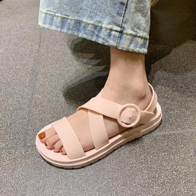 KEITH-WILL時尚鞋館 獨家價年度精選羅馬簡約平底涼鞋-粉