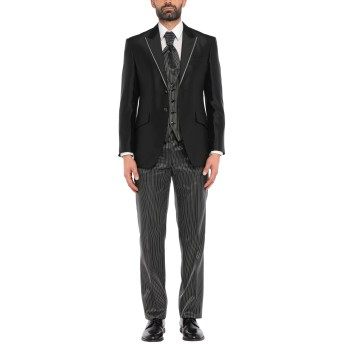 《セール開催中》CARLO PIGNATELLI CERIMONIA メンズ スーツ ブラック 52 アセテート 85% / シルク 15%