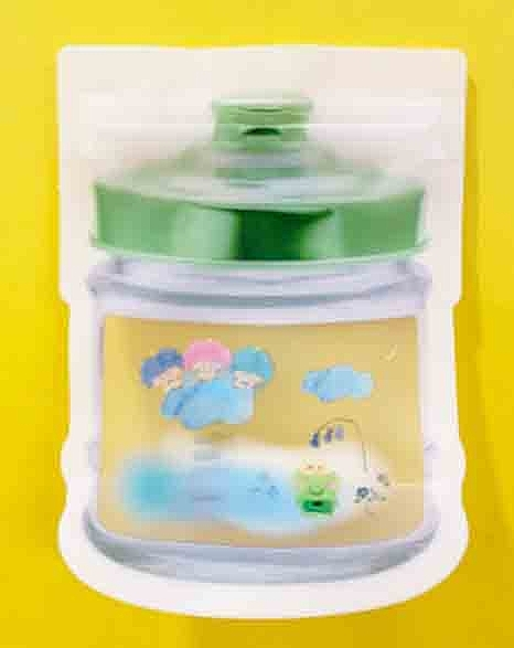 【震撼精品百貨】KeroKeroKeroppi 大眼蛙~Sanrio 大眼蛙罐子造型夾鏈袋(6入)#19359