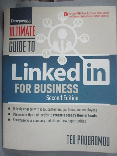 【書寶二手書T9/大學商學_JNE】Ultimate Guide to Linkedin for Business_Prodromou, Ted/ Malinchak, James (FRW)