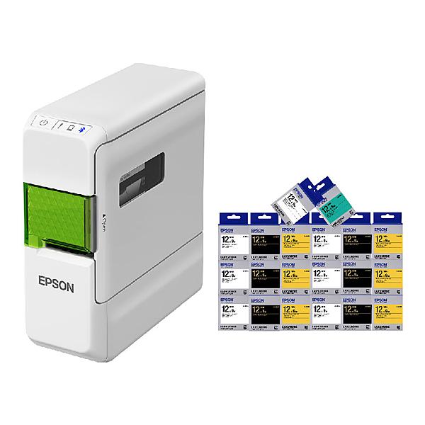 【任選20入市價399標籤帶 加送3入】EPSON LW-C410 文創風家用藍芽手寫標籤機