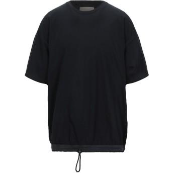 《セール開催中》CORELATE メンズ T シャツ ブラック XL コットン 100% / ポリエステル