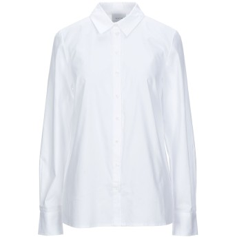 《セール開催中》GESTUZ レディース シャツ ホワイト 34 コットン 100%