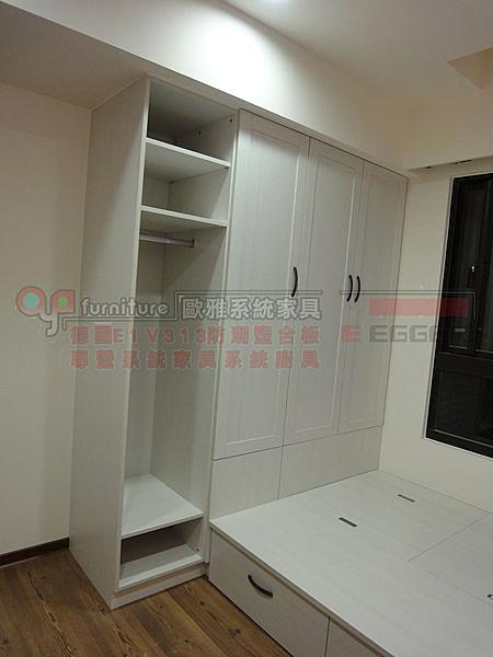 系統家具 女孩房 小孩房 衣櫃 收納床 E1V313塑合板 總價:66800