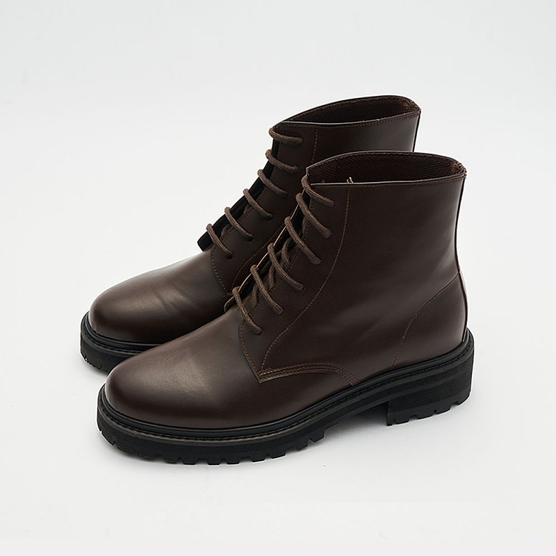 Gullar 六孔馬丁女鞋-素食皮鞋(深咖啡色)