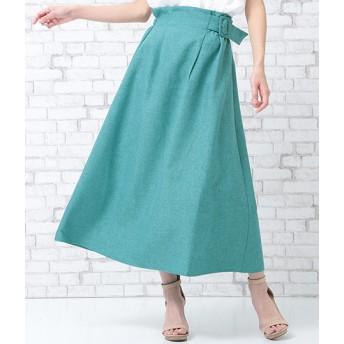 AULI(アウリィ)/ベルト付アシンメトリースカート