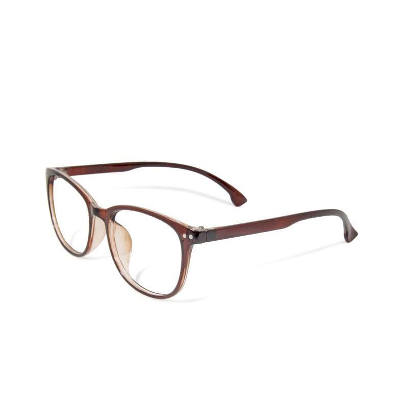 中央公園的映象│ 簡約造型輕量亮棕方框UV400濾藍光眼鏡 亮棕
