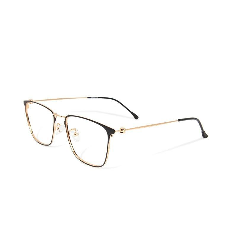 秀拉的油彩光譜│ 法式優雅復古輕量鈦金屬質感方框UV400濾藍光眼鏡