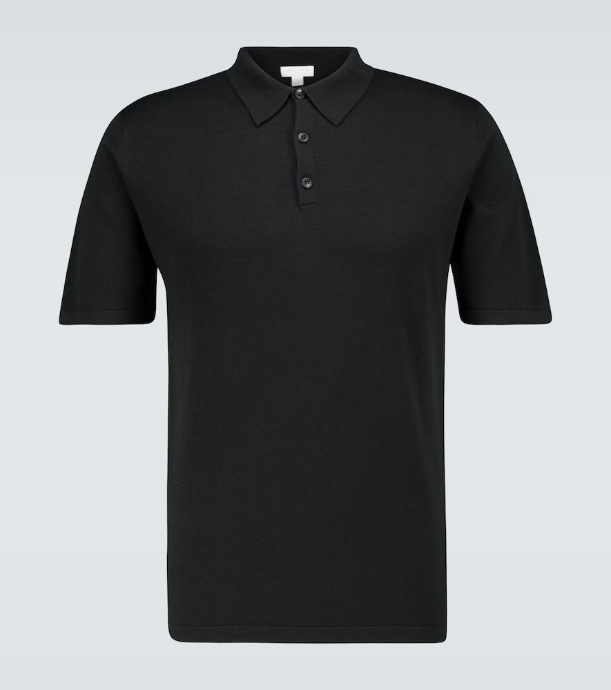 Sea Island knitted cotton polo shirt