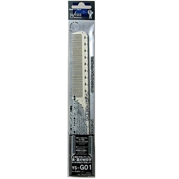 日本YS-G01刻度尖尾梳(一體成形) 兩面均有公分刻度 日本製 日本美髮沙龍專業商品 耐熱 220℃