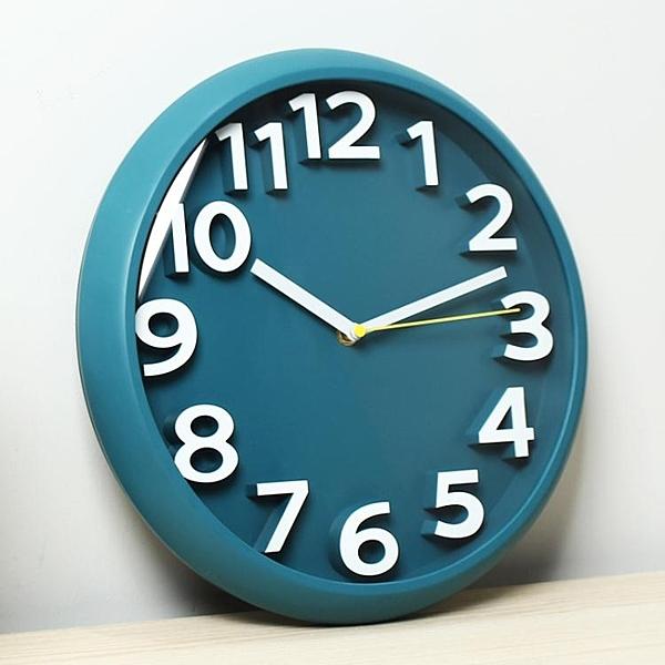 現代簡約掛鐘客廳家用時尚時鐘掛牆免打孔創意個性石英鐘掛表鐘表 檸檬衣舍